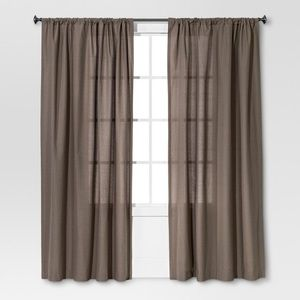 Threshold Grey Curtain Panels